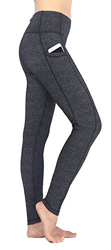 Ajisai Womens Yoga Workout Leggings With Side Pockets Non