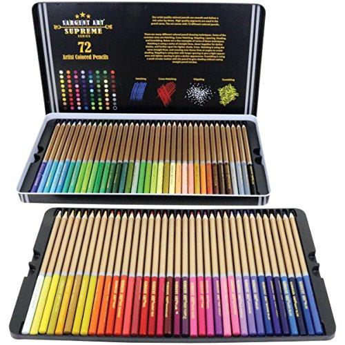 Sargent Art 22-7287 72ct Colored Pencils Artist Quality ...