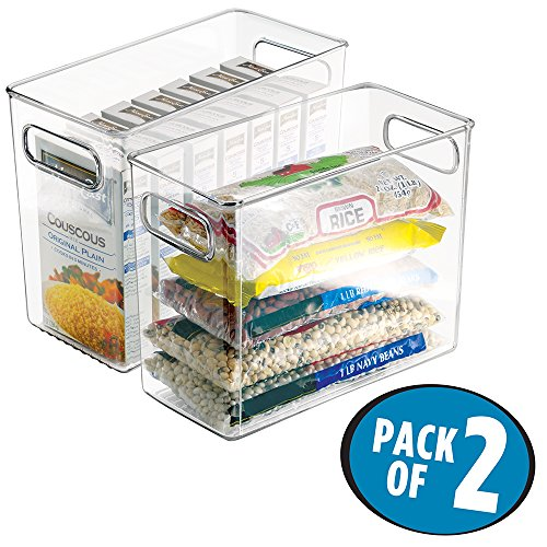 Pack Decobros Stackable Kitchen Cabinet Organizer White