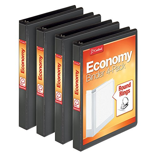 Samsill Economy 3 Ring View Binders, 1 Inch Round Ring