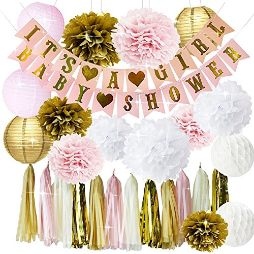 ... Pom Poms Flowers Paper Lanterns Paper Honeycomb Balls Tissue Paper Tassel Party Decorations. 100% guarantee- love this set or your money back, ...
