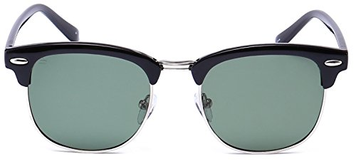 "76a83d2ff99f PRIVÉ REVAUX ""The Chairman"" Handcrafted Designer Brownline Polarized  Sunglasses For Men   Women Black"