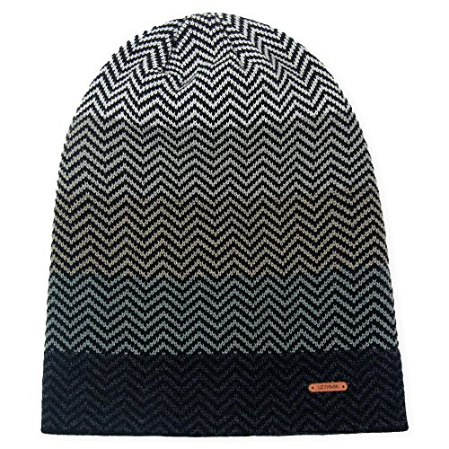 6d62c9e74a794 LETHMIK Winter Long Slouchy Beanie Unique Mix Knit Ski Cap Hat Skully for  Men   Women Grey